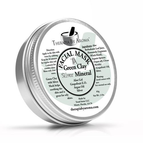 Green Clay, Silver facial mask
