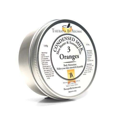 3 oranges condensed milk body milk cream