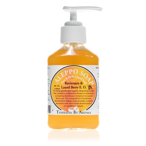 Aleppo hand soap ravintsara laurel berry