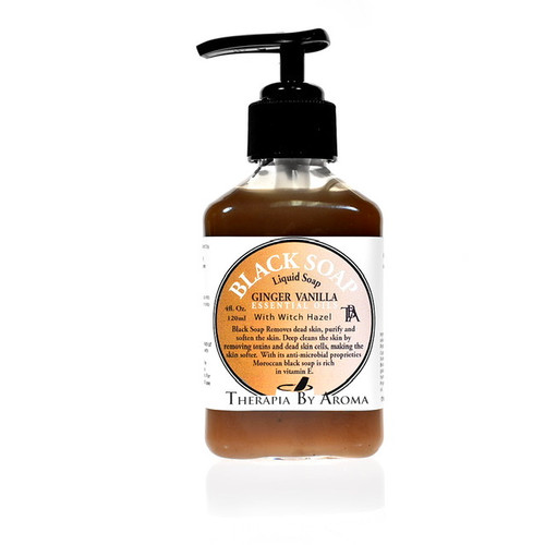 Black soap ginger vanilla