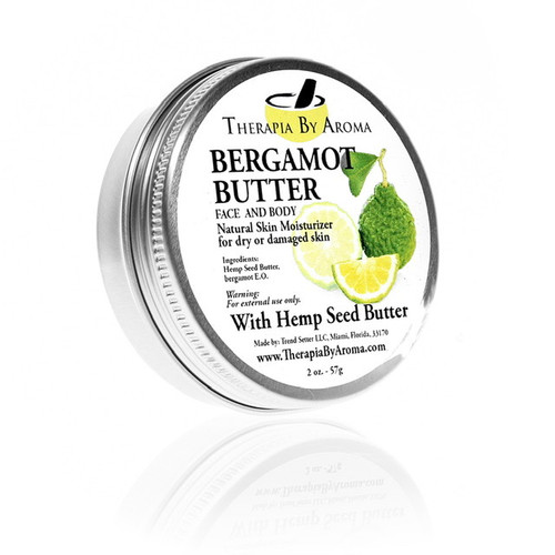 Bergamot Butter Natural Skin Moisturizer with hemp seed butter and essential oils
