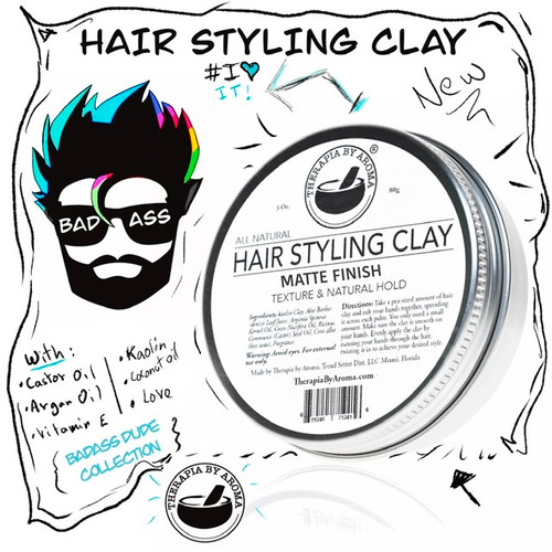 Hair Styling Clay Matte Finish 100 Natural With Argan Oil And Kaolin Clay Therapia By Aroma