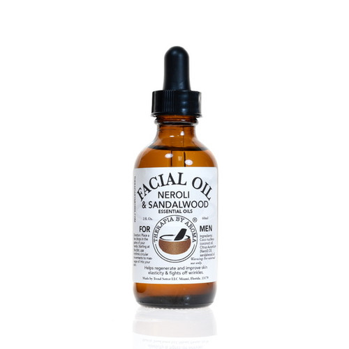 Neroli sandalwood facial oil for men
