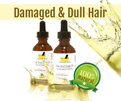 Damaged And Dull Hair essential oil based treatment