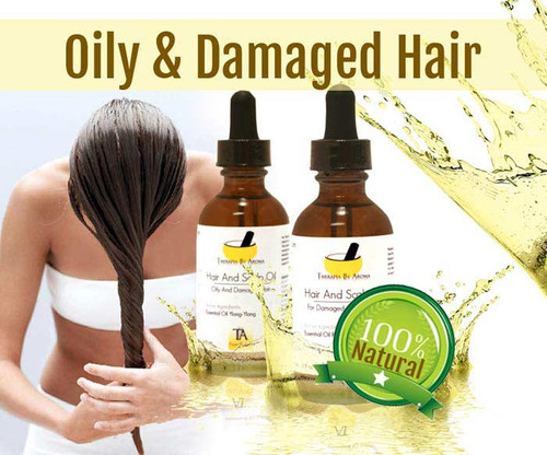Anti-Greasy, Damaged Hair essential oil based treatment