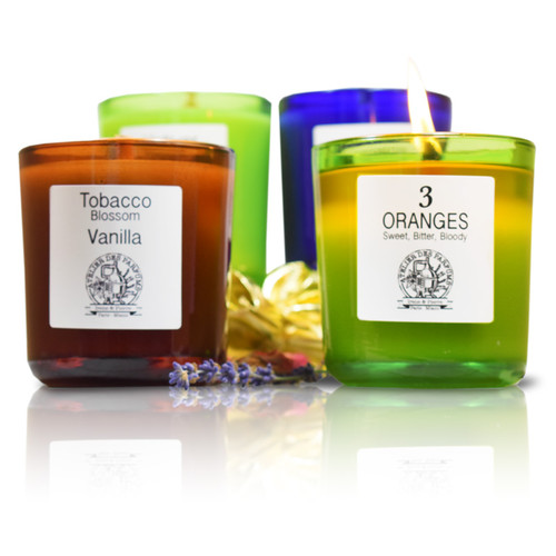 wood wick essential oils candles by therapia by aroma and atelier des parfums