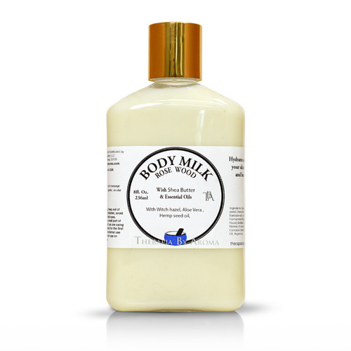 Rosewood body milk essential oil