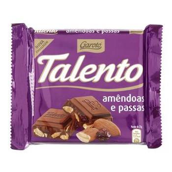 Talento Garoto Amêndoas e Passas - 90g