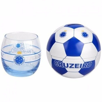 Copo E Cofre Bola Cruzeiro