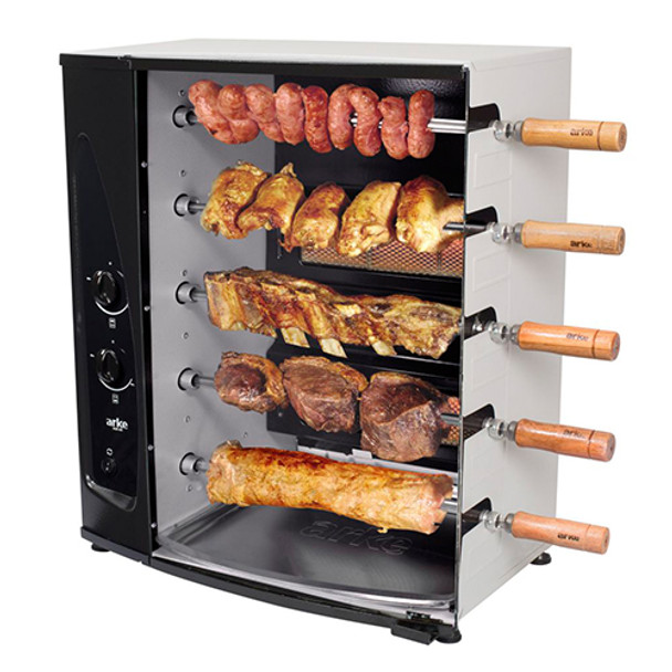 GRILL-BY-ARKE-BRASIL-BARBECUE 5-SKEWER-ROTISSERIE-G