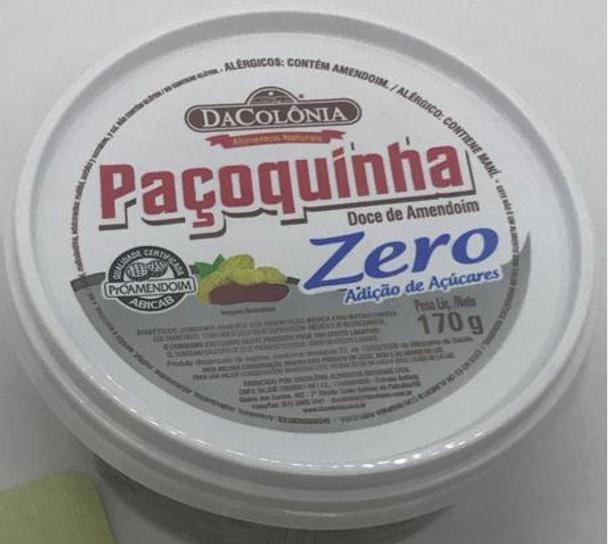 Paçoquinha Doce de Amendoim Zero Açúcar - 170g