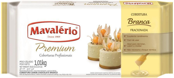 Chocolate Mavalério Premium Cobertura Chocolate Branco - 1.01kg