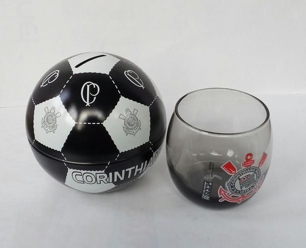 Copo E Cofre Bola Corinthians