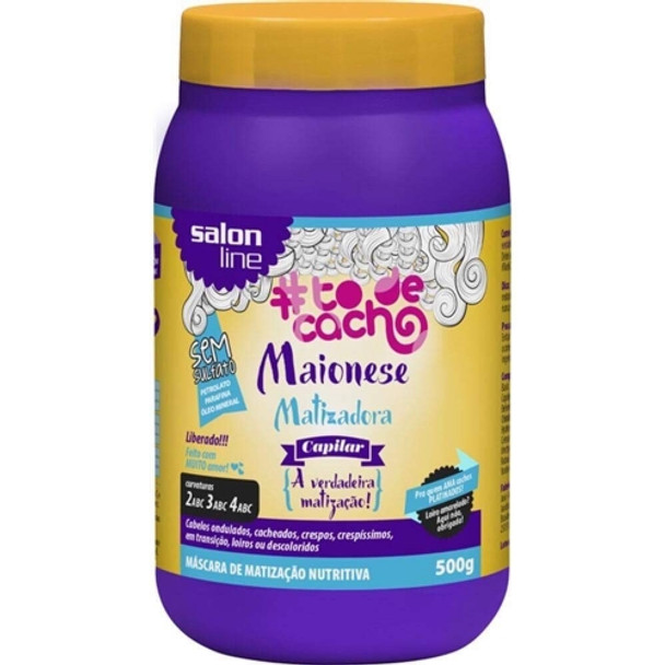 Maionese Capilar #todecacho Matizadora Liberado Salon Line 500g