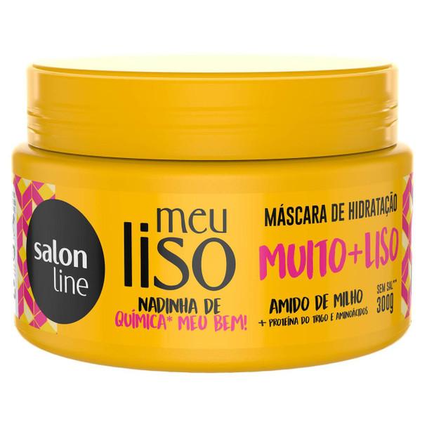 Mascara Meu Liso #muito+liso Amido de Milho Salon Line 300gr
