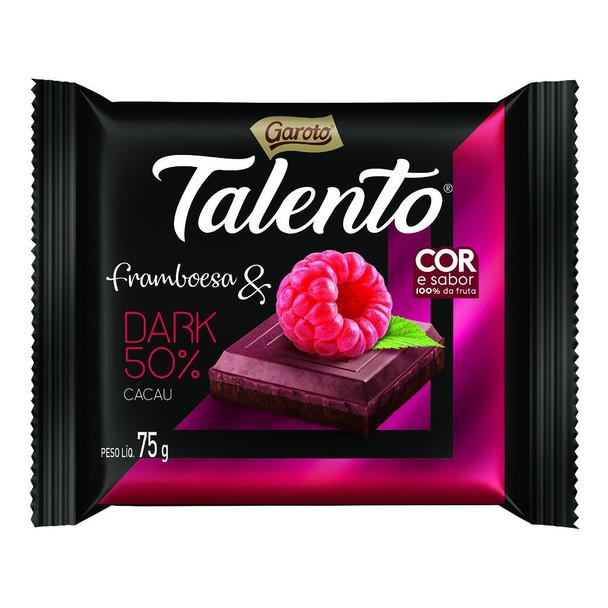 Chocolate Garoto Talento Framboesa e Dark 50% Cacau