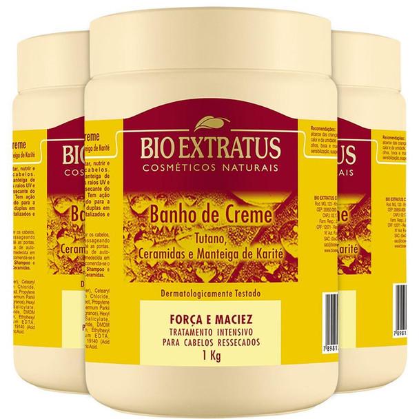 Banho De Creme Tutano Ceramidas Bio Extratus - 1Kg