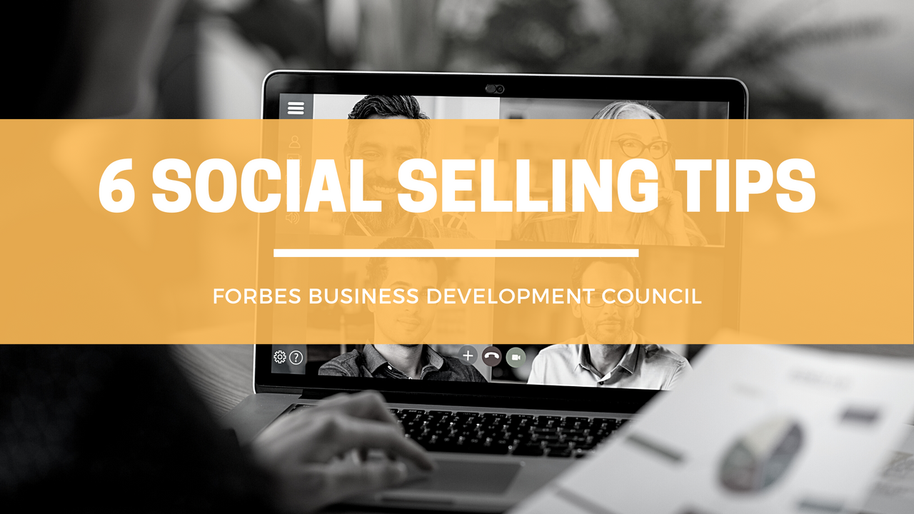 6 SOCIAL SELLING TIPS FOR SMALL BUSINESSES