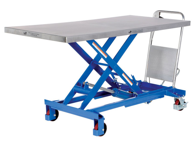 SINGLE SCISSOR LIFT - STEEL CART-1000-LD - 1000LBS CAPACITY HYDRAULIC LIFT
