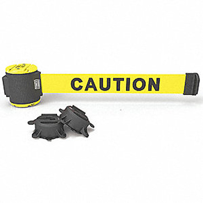 "30' Magnetic Wall Mount - Yellow ""Caution"" Banner"