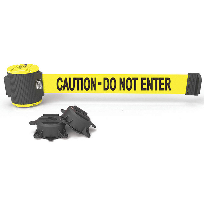 "30' Magnetic Wall Mount - Yellow ""Caution - Do Not Enter"" Banner"