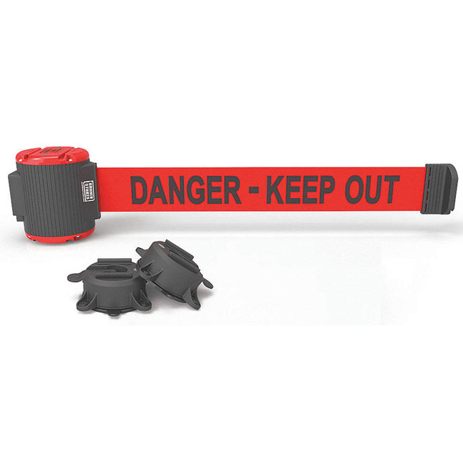 "30' Magnetic Wall Mount - Red ""Danger-Keep Out"" Banner"