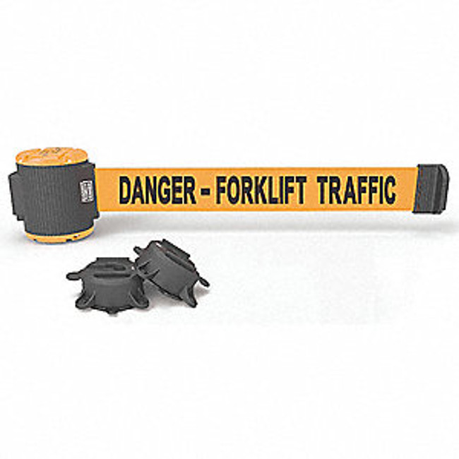 "30' Magnetic Wall Mount - Orange ""Danger- Forklift Traffic"" Banner"