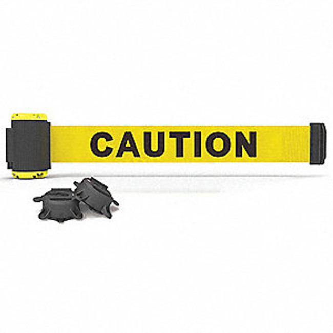 "7' Magnetic Wall Mount - Yellow ""Caution"" Banner"