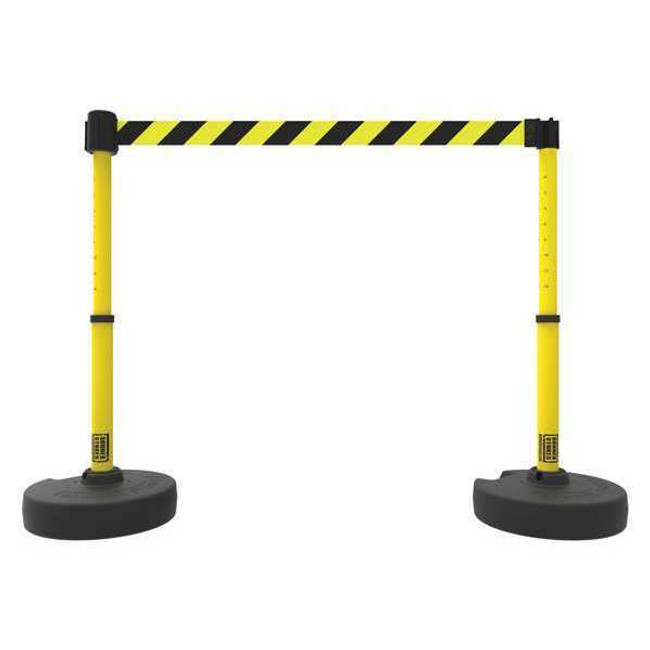 PLUS Barrier Set X2, Yellow/Black Diagonal Stripe