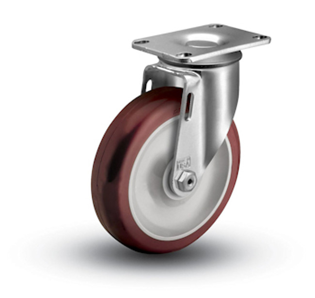 "Colson Ecopoly Swivel Caster No Brake 4"" (275 LBS Cap)"