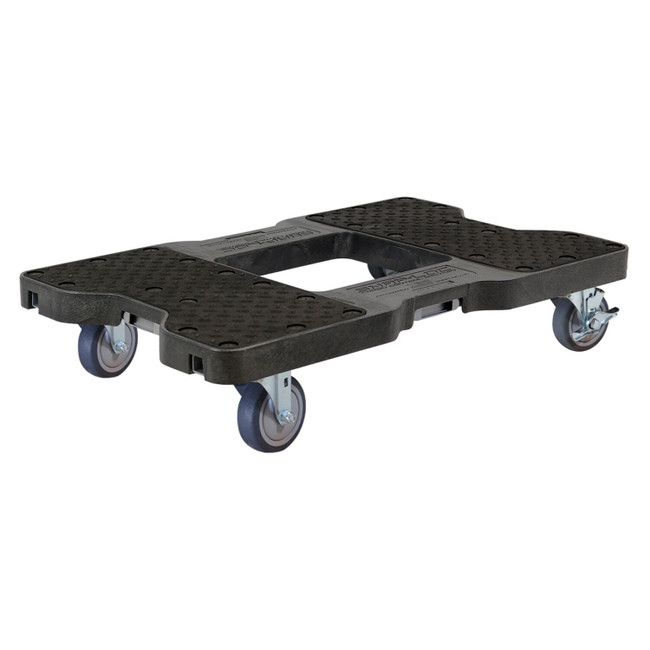 SNAP-LOC 1200 LB PROFESSIONAL E-TRACK PUSH CART DOLLY BLACK