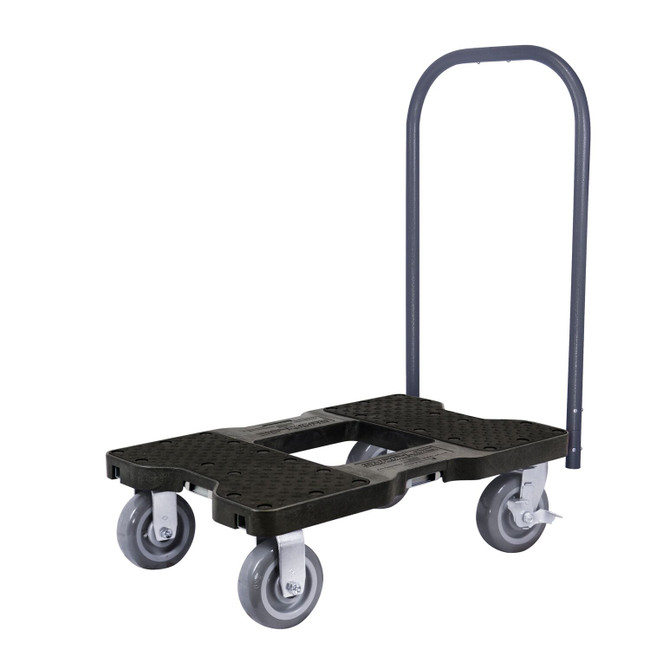 SNAP-LOC 1500 LB INDUSTRIAL STRENGTH PROFESSIONAL E-TRACK PUSH CART DOLLY BLACK
