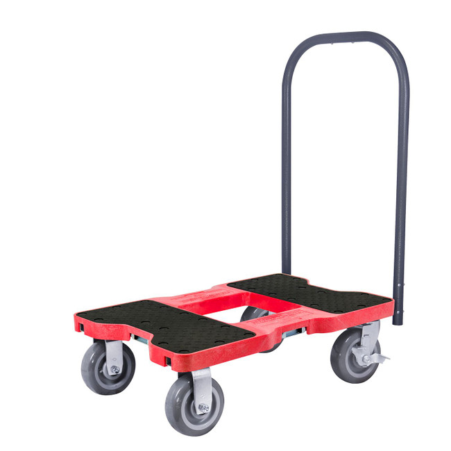 SNAP-LOC 1800 LB SUPER-DUTY PROFESSIONAL E-TRACK PUSH CART DOLLY RED