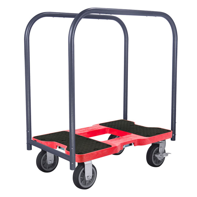 SNAP-LOC 1500 LB ALL-TERRAIN PROFESSIONAL E-TRACK PANEL CART DOLLY RED