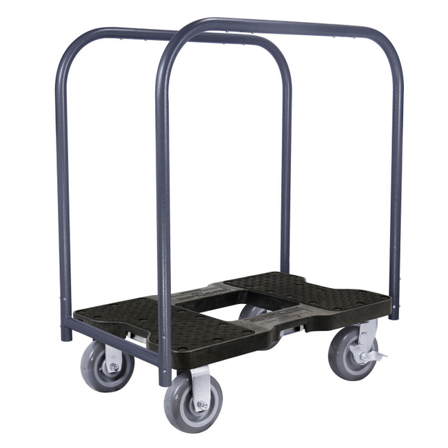 SNAP-LOC 1800 LB SUPER-DUTY PROFESSIONAL E-TRACK PANEL CART DOLLY BLACK