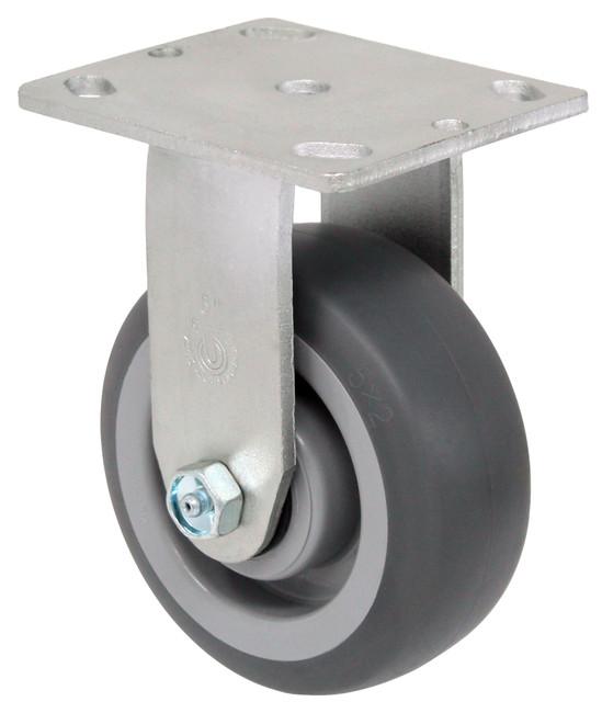 "LINCO Thermoplastic Rubber (TPR) Rigid Caster 5"" (350 LBS Cap)"