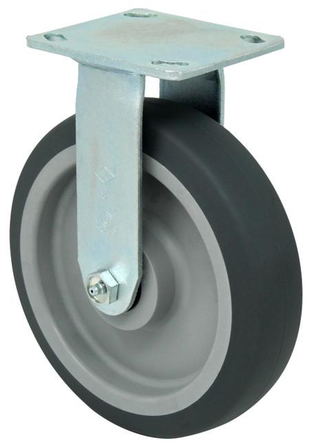 "LINCO Thermoplastic Rubber (TPR) Rigid Caster 8"" (600 LBS Cap)"