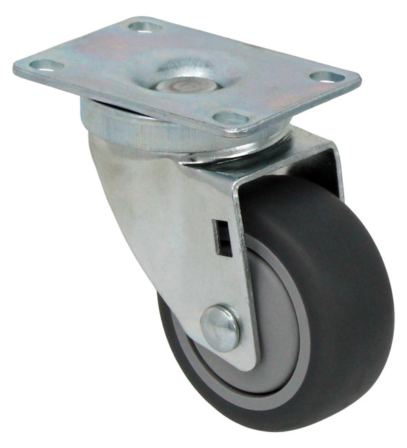 "3"" TPR RUBBER SWIVEL W TOP PLATE - 210LBS CAPACITY - 75TP30GI4406YY"