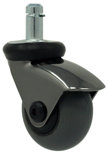"2"" BLACK CHROME SWIVEL CASTER W GRIP RING STEM - FH20GRB4953"