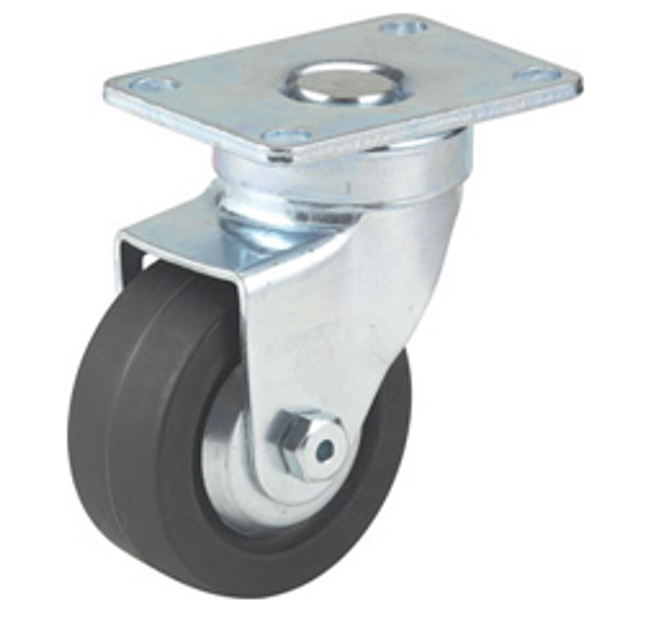 "2.5"" SWIVEL CASTER W/ THUMB SCREW BRAKE AND TOP PLATE - 32-1/2-20-XH-TSB"