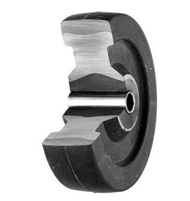 "2"" X 7/8"" DARNELL NEOPRENE RUBBER WHEEL - 32-XDN - DUAL WHEEL REPLACEMENT"