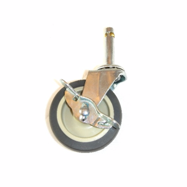 """LINCO Light Duty Thermoplastic Rubber (TPR) Swivel Caster with Grip Ring Stem and Brake 3"""" (100 LBS Cap)"""