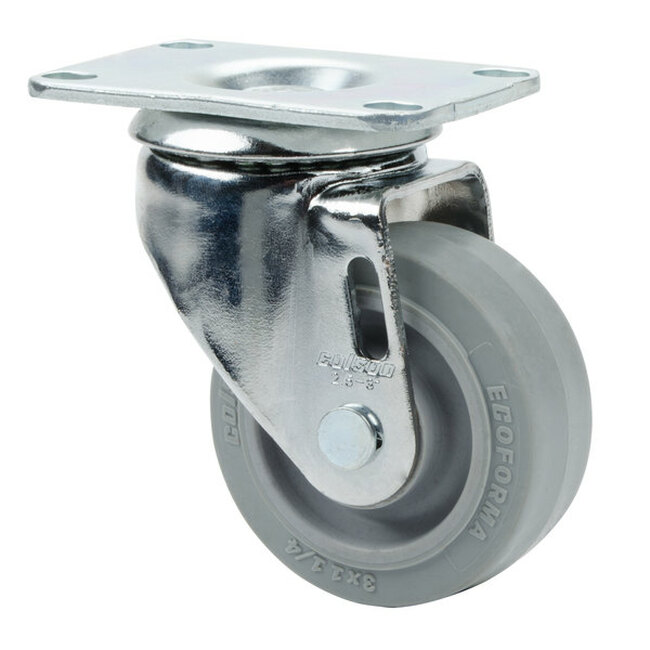 "3"" CHROME SWIVEL CASTER - NSF LISTED"