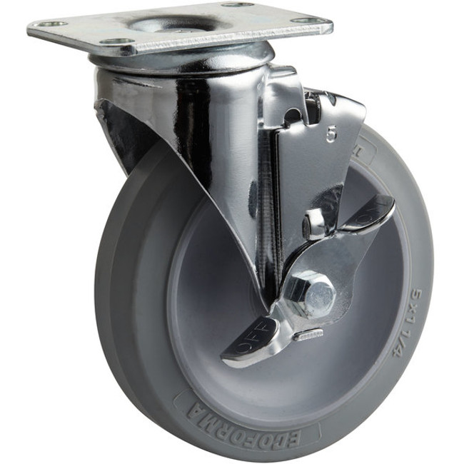 "5"" CHROME SWIVEL CASTER - NSF LISTED"