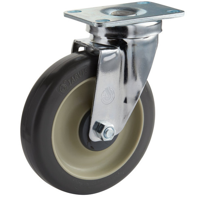 "5"" CHROME SWIVEL CASTER  - NSF LISTED FOR FOODSERVICE - JARVIS"