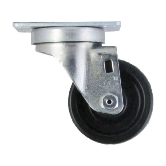 "3"" LOW PROFILE POLYOLEFIN SWIVEL CASTER W TOP PLATE"