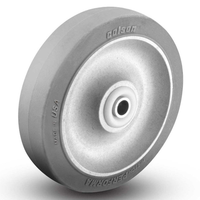 "3.5"" GREY RUBBER FLAT ECOFORMA WHEEL"