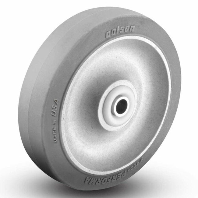 "4"" X 1.25"" GREY RUBBER ECOFORMA WHEEL - 300LBS CAPACITY"