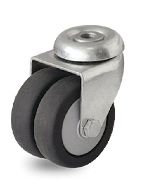 "3"" DUAL WHEEL SWIVEL WITH 1/2"" HOLLOW KINGPIN - P9S-RP030K-H"