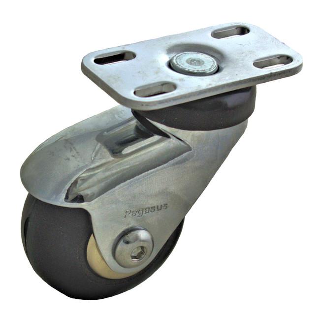 "3"" CHROME SWIVEL CASTER W/ TOP PLATE - P7S-SRP030K-P"
